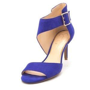 NIB JS-Marrionn Leather Open Toe Stiletto Heels